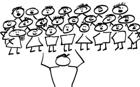 I love to hear a choir