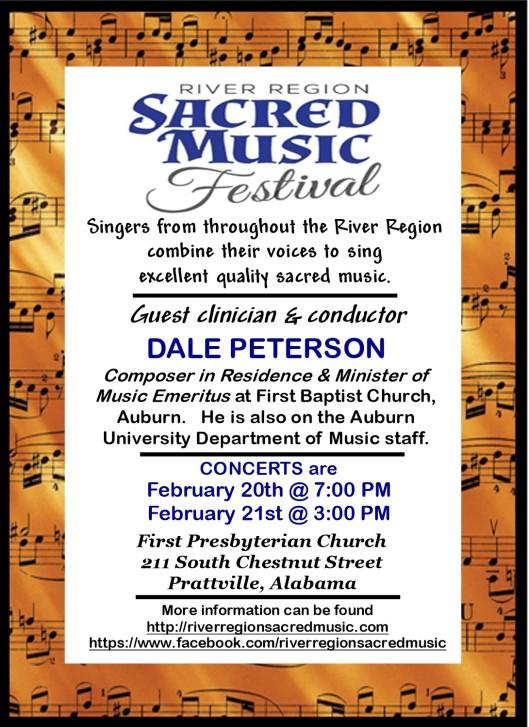 Sacred Music Festival 2016 Poster